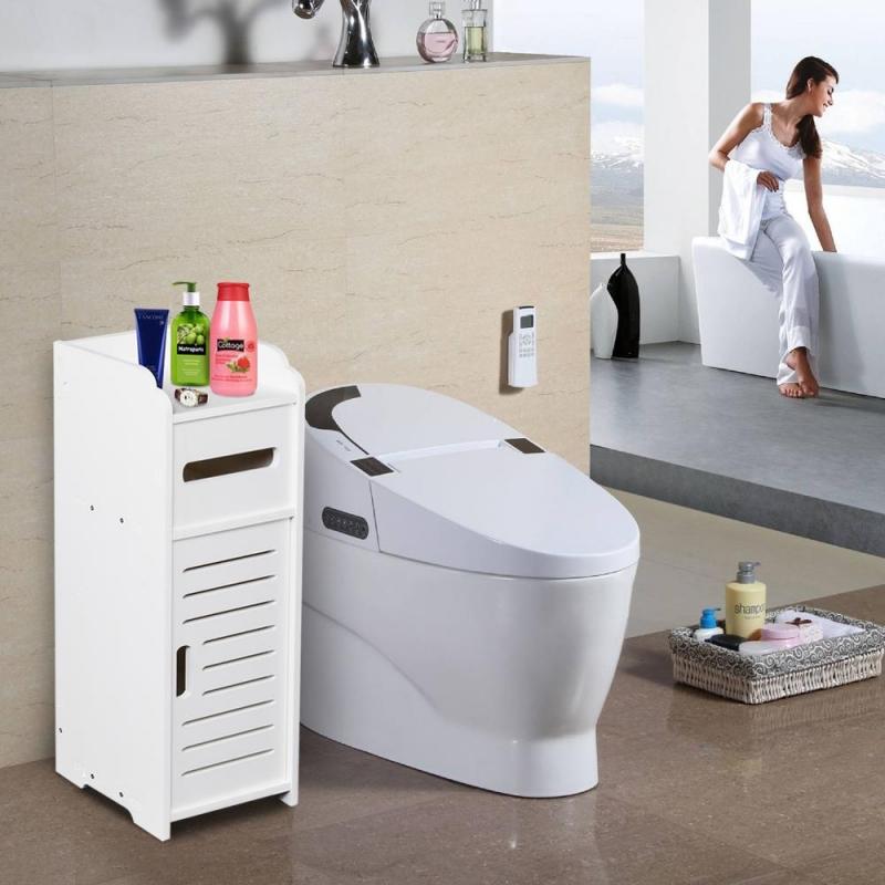 Zimtown Bathroom Cabinet Free Standing Corner Toilet ...