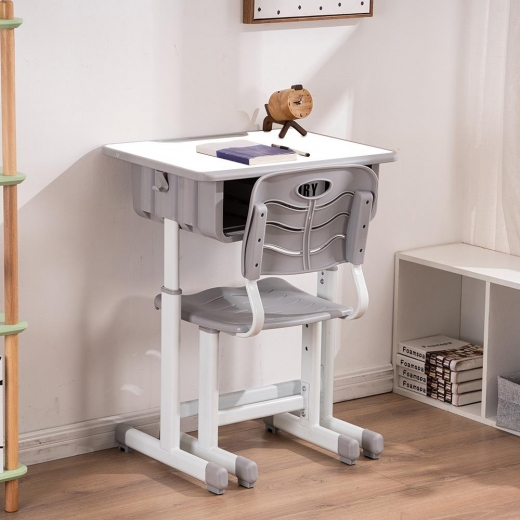 Zimtown Student Desk and Chair Set for Girls - Height