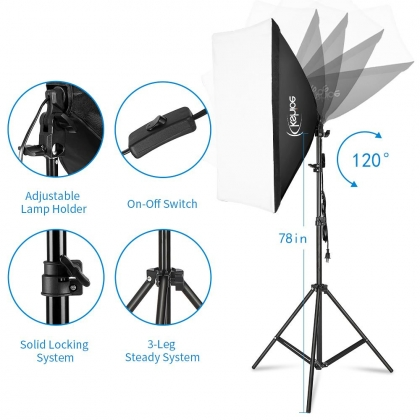 Zimtown Kshioe Photography Lighting Kit 6 5x10feet 2x3m Backdrops Stand Support System 5 In 1 Reflectors 1600w 5500k Umbrellas Softbox Continuous Lighting Kit For Portrait Product And Video Shootin Zimtown