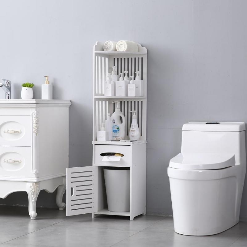 Zimtown Small Bathroom Storage Corner Floor Cabinet with ...